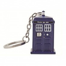 Doctor Who Tardis Taskulamppu Avaimenperä