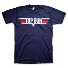 Top Gun Distressed Logo T-Paita