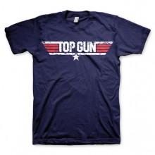 Top Gun Distressed Logo T-Paita