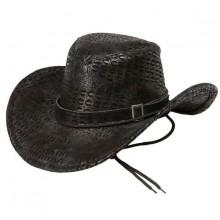 Cowboyhattu Musta Käärmeennahka