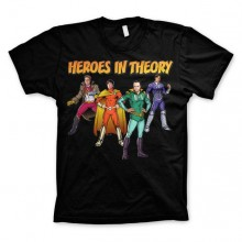 The Big Bang Theory - Heroes In Theory T-Paita