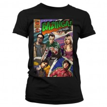 Big Bang Theory - Bazinga Comic Cover Naisten T-Paita.