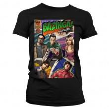 Big Bang Theory - Bazinga Comic Cover Naisten T-Paita.