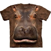 Hippo Head Big Face T-Paita