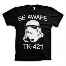 Star Wars Be Aware - TK-421 T-Paita