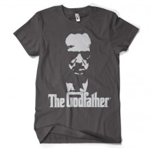The Godfather Shadow T-Paita Tummanharmaa