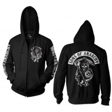 Sons Of Anarchy Backpatch Zipped Huppari