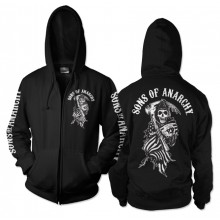 Sons Of Anarchy American Reaper Zipped Huppari