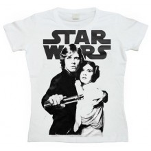 Star Wars Skywalker & Leia Naisten T-paita