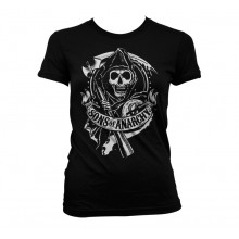 Sons Of Anarchy Scroll Reaper Naisten T-Paita