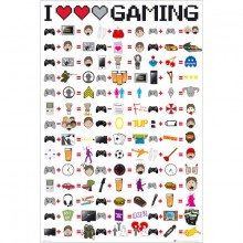 I Love Gaming Juliste