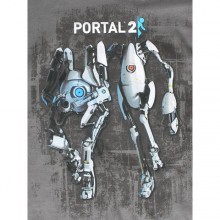 Portal 2 Atlas And P-Body T-paita Tummansininen