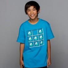 Minecraft Diamond Crafting Turquoise Lasten T-Paita
