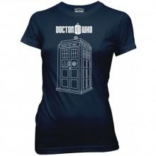 Doctor Who Linear Tardis Naisten T-Paita