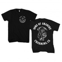 Sons Of Anarchy SOA Full CA Backprint T-Paita