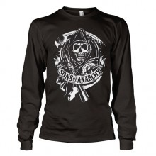 Sons Of Anarchy SOA Scroll Reaper Long Sleeve T-Paita