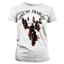 Sons Of Anarchy Motorcycle Gang Girly T-Paita