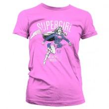 Supergirl Metropolis Distressed Naisten T-Paita