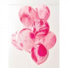 Ilmapallot Vaaleanpunainen Marmori 12-pakkaus