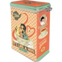 Kahvipurkki Retro Tea It´s Like A Hug