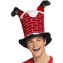 Hattu Joulupukki Savupiipussa
