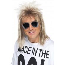 80-luvun Peruukki Blondi Lätkätukka