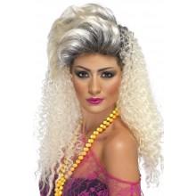 80-luvun Peruukki Blondi Otsakiehkura