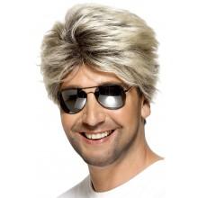 80-luvun Peruukki Blondi
