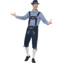 Oktoberfest Perinteinen Asu Sininen Deluxe