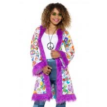 60-luvun Takki Hippi Violetti