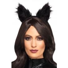 Pörröiset Kissankorvat Musta