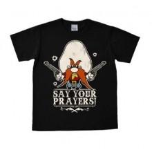 Looney Tunes Say Your Prayers T-Paita Myötäilevä Musta