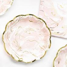 Lautaset Vaaleanpunainen Marmori 8-pakkaus