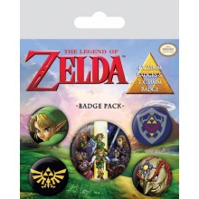 The Legend Of Zelda Pinssi 5 Kpl