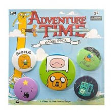 Adventure Time Badges 5-Pakkaus
