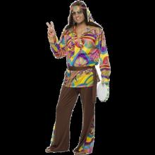 Psykedeelinen Miesten Hippi Naamiaisasu