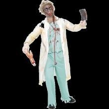 Zombie Lääkäri Naamiaisasu, Valkoinen ja Vihreä