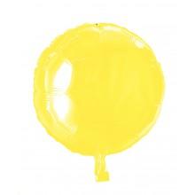 Folioilmapallo Pyöreä Keltainen