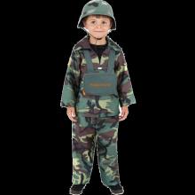 Lasten Armeijapojun Naamiaisasu