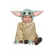 Star Wars Baby Yoda the Mandalorian Maskeraddräkt litet Barn