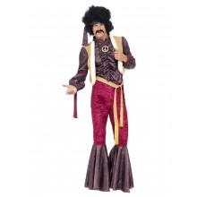 70-tals psykedelisk rockstar maskeraddräkt