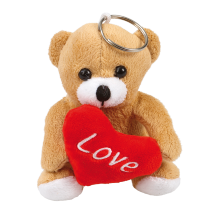 "Avaimenperä pehmonalle ""Love"" 10 cm"