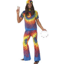 Hauska 60-luvun Hippi Naamiaisasu, Aikuisten