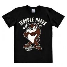 Looney Tunes Trouble Maker T-Paita Musta