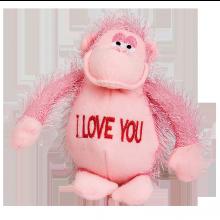 Pehmolelu Apina I Love You