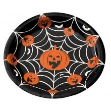 Lautaset Halloween 8-pakkaus