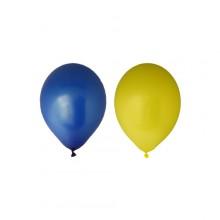 Ilmapallot Keltainen/Sininen 12-pakkaus