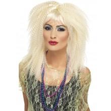 80-luvun Peruukki Blondit Kiharat