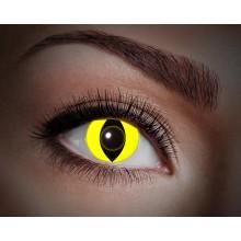 Värilliset linssit UV Yellow Cat