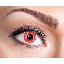 Färgade linser Red Spiral